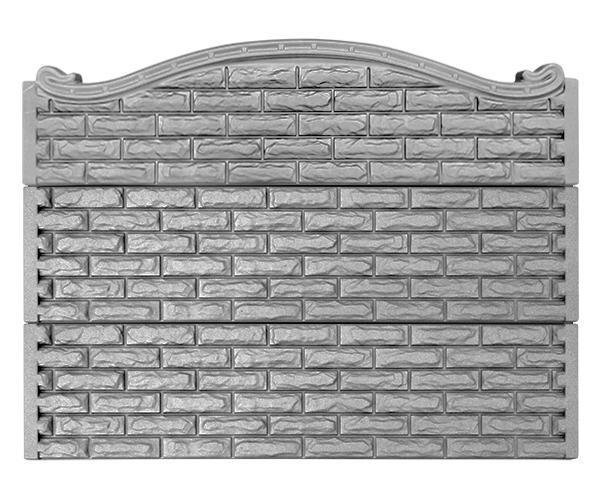 Заборная секция из бетона №60 Фагот-верх