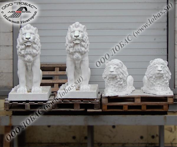 купить скульптуры львов из бетона