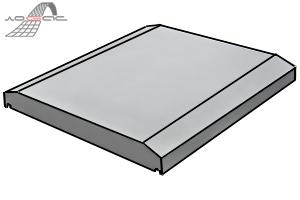 Плоская парапетная плита, перейти в каталог