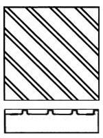 Тактильная плитка с рифами по диагонали
