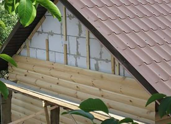 Отделка газобетонного дома по технологии блок-хаус