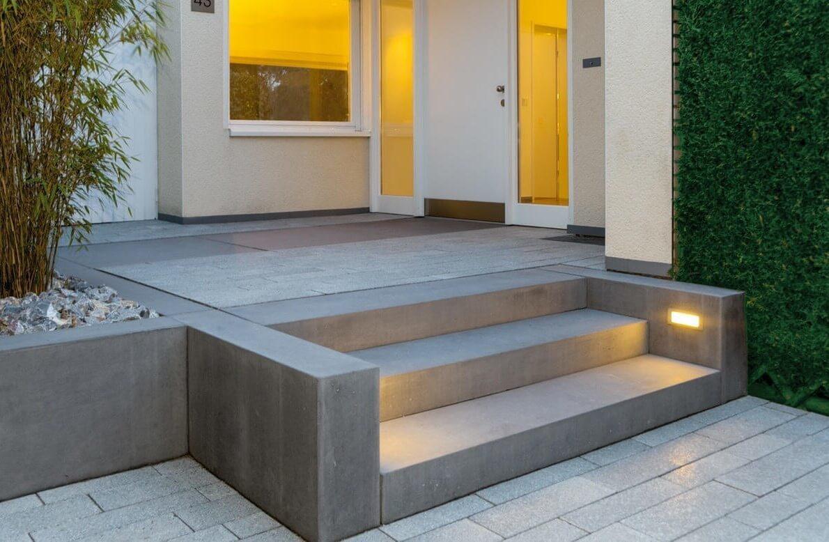 Крыльцо из бетона для частного дома купить керамзитобетон вес блока