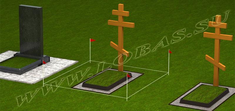 Расчистка и разметка места установки памятника